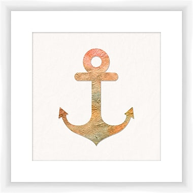 PTM Images Watercolor Anchor Framed Graphic Art