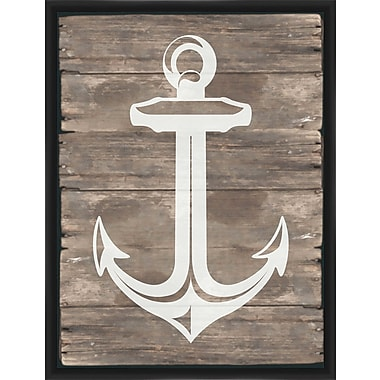 PTM Images Rustic Small Anchor Framed Graphic Art
