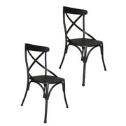 Pangea Home Dylan Side Chair (Set of 2); Dark Gray