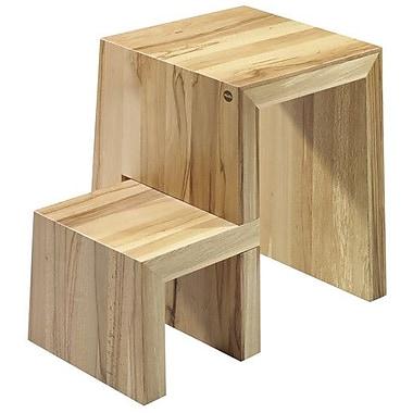 Hailo USA Inc. 2-Step Wood ''U'' Step Stool w/ 330 lb. Load Capacity; Natural