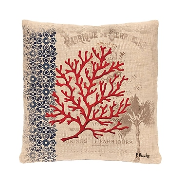 Heritage Lace Palm Tree Throw Pillow