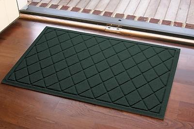 Bungalow Flooring Aqua Shield Argyle Doormat; Evergreen
