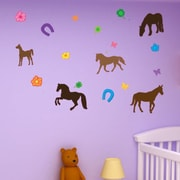 Style and Apply Colorful Horse Wall Decal