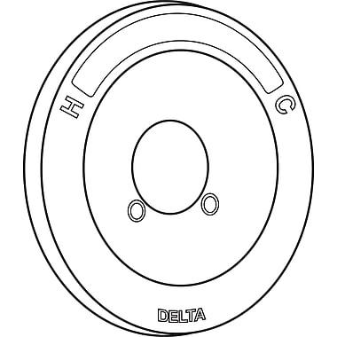Delta Escutcheon Tub-Shower; Chrome