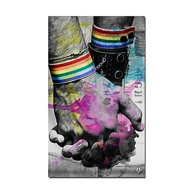 Ready2hangart 'Hold Hands' Framed Graphic Art on Wrapped Canvas