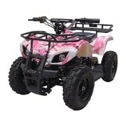 Big Toys MotoTec 24v Mini Quad v4 Wagons ATV; Pink