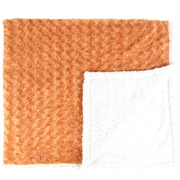 Found Object Twisted Fur and Sherpa Throw Blanket; Apricot