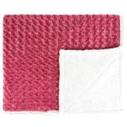 Found Object Twisted Fur and Sherpa Throw Blanket; Raspberry