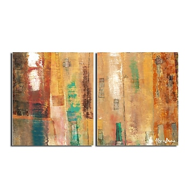 Ready2hangart Smash XII' Oversized 2 Piece Painting Print on Canvas Set