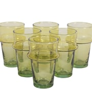 Found Object Beldii Moroccan Tea Glass (Set of 6); Yellow