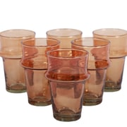 Found Object Beldii Moroccan Tea Glass (Set of 6); Orange