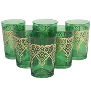 Found Object Punto Moroccan Tea Glass (Set of 6); Green