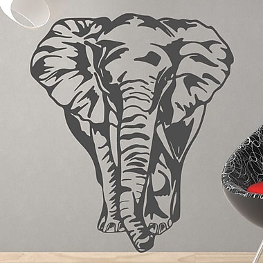 Style and Apply Big Elephant Wall Decal; Dark Red