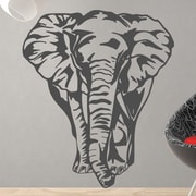 Style and Apply Big Elephant Wall Decal; Silver