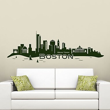 Style and Apply Boston Skyline Wall Decal; Golden Yellow