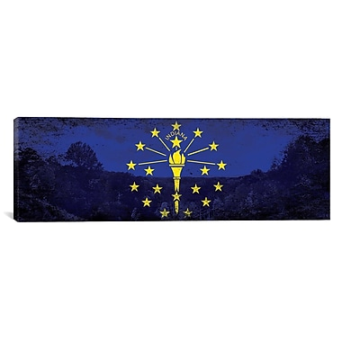 iCanvas Indiana Flag, County State Park Panoramic Graphic Art on Canvas; 12'' H x 36'' W x 0.75'' D