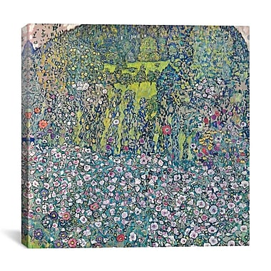 iCanvas 'Garden Landscape on the Hill' by Gusta Klimt Wall Art on Canvas; 12'' H x 12'' W x 1.5'' D