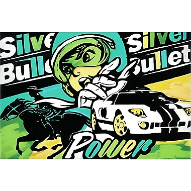 Marmont HIll 'Silver Bullet' by Josh Ruggs Painting Print on Wrapped Canvas; 30'' H x 45'' W