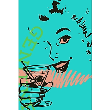 Marmont HIll 'Girl Drink 2' Print on Wrapped Canvas; 18'' H x 12'' W