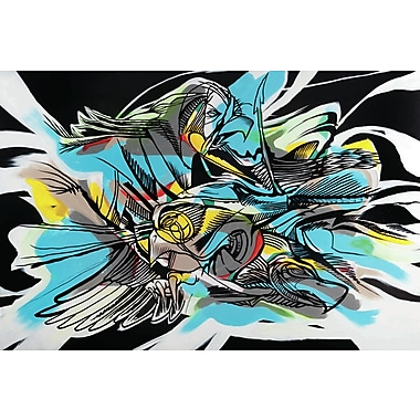 Marmont HIll 'Raven Claw' Print on Wrapped Canvas; 24'' H x 36'' W