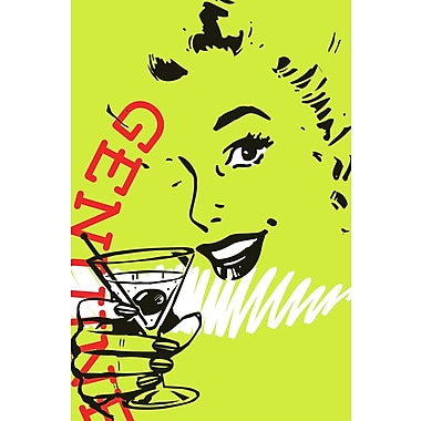 Marmont HIll 'Girl Drink 1' by Josh Ruggs Painting Print on Wrapped Canvas; 18'' H x 12'' W