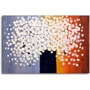 Omax Decor Bouquet of Pure White Painting on Canvas