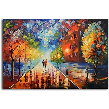 Omax Decor Misty Glow in the Moonlight' Painting on Canvas
