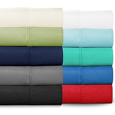 Bare Home 300 Thread Count Egyptian Quality Cotton Twin XL Sheet Set; Sky Blue