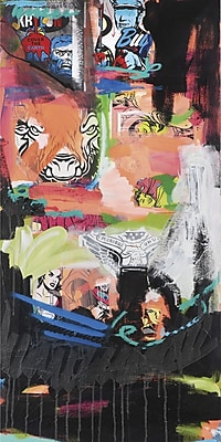 Marmont HIll 'Western Hunt' by Josh Ruggs Painting Print on Wrapped Canvas; 45'' H x 22'' W