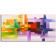 Omax Decor Derivitives of Color Painting on Canvas