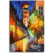 Omax Decor Lamp-Lit Night' Painting on Canvas