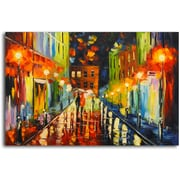 Omax Decor Warmth on a Rainy Night' Painting on Canvas