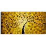 Omax Decor Textured Tree' Painting on Canvas