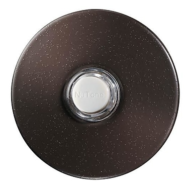 NuTone Lighted Round Stucco Pushbutton; Polished Brass