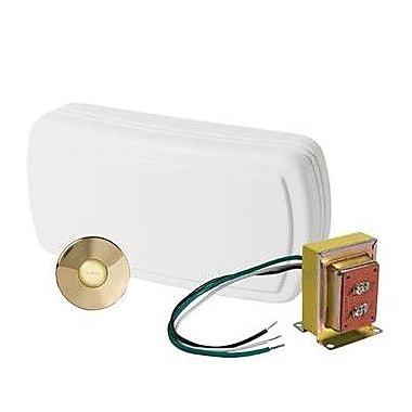 NuTone Kit w/ Lighted Stucco Pushbutton; Polished Brass