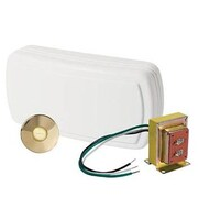 NuTone Kit w/ Lighted Stucco Pushbutton; Polished Brass