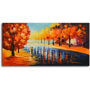 Omax Decor Autumn Paradise' Painting on Canvas