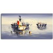 Omax Decor Beauty in a Bleary Day at Sea' Painting on Canvas