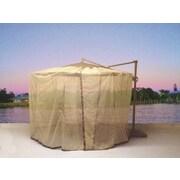 Shade Trend Cantilever Mosquito Umbrella Netting; Beige