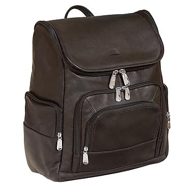 Mancini Backpack for Laptop and Tablet, Brown