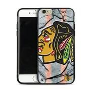 LNH – Étui Blackhawks de Chicago, grand logo, pour iPhone 6 et plus, édition limitée