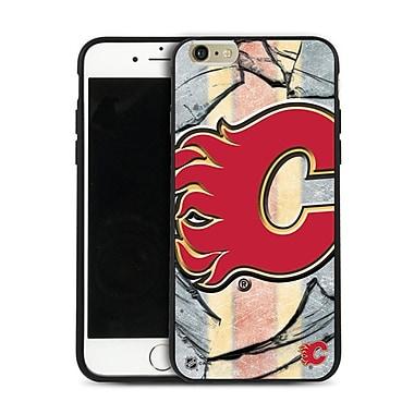 LNH – Étui Flames de Calgary, grand logo, pour iPhone 6 et plus, édition limitée