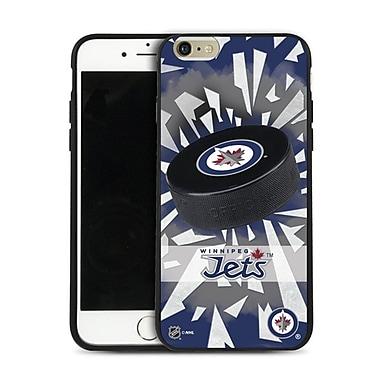 LNH – Étui Jets de Winnipeg, rondelle et éclats, pour iPhone 6 et plus, édition limitée