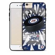 LHN – Étui Jets de Winnipeg, rondelle et éclats, pour iPhone 6, édition limitée