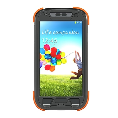 Dog and Bone Samsung Galaxy S4 Wetsuit Case, Electric Orange