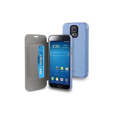 Muvit Samsung Galaxy S5 Easy Folio Case with Cardslots, Blue