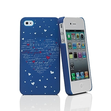 Muvit iPhone 4/4S Loveheart Doodle Case, Blue/White