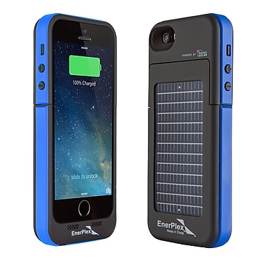 EnerPlex iPhone 5/5S Surfr Solar Battery Case, Black/Blue