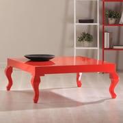 La Viola D cor Lukens Coffee Table; Red