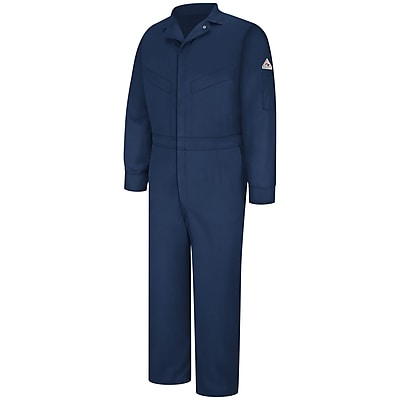 Bulwark Deluxe Coverall - EXCEL FR ComforTouch - 6 OZ. RG x 48, Navy